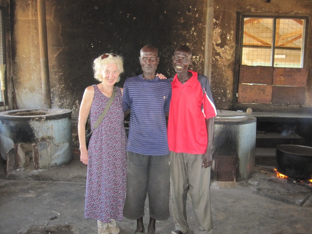 I am with the school cook and Peter, a Turkana friend who serves as the school watchman