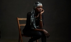 Model Nykhor Paul speaking for SouthSudan