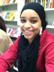 "Amna, 9th grader, Gorham High School wrote ""My Beloveds"". She is from Khartoum."
