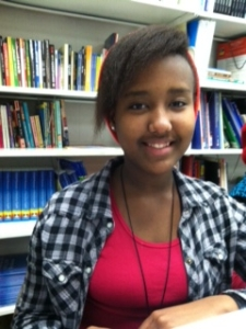 "Megan, 9th grader, Gorham High School, wrote ""College"" as the next chapter in Viola's life. She is from Burundi."