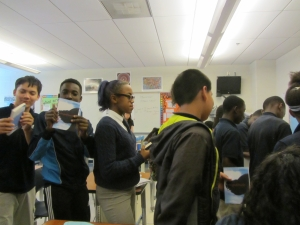 AOBF Hardy Students showing book in line